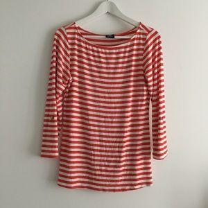 Bobeau Striped crewneck Tee shirt top blouse